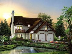 House Plan 95876 | Cabin Cottage Craftsman European Tudor Plan with 2250 Sq. Ft., 3 Bedrooms, 3 Bathrooms, 2 Car Garage at family home plans