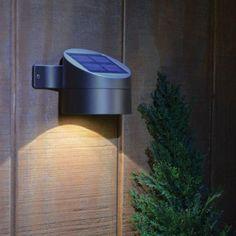 Outdoor Bronze Solar Powered Led Wall Mount Deck Sconce Light w/ Battery Durable #light #ledlight #solarpower