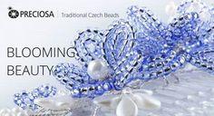 Tutorial fiori di perline  -  fermagli per capelli -  beaded flowers haircomb tutorial http://preciosa-ornela.com/en/news/projects/intermediate/923-blooming-beauty