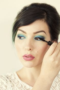 Step by step Blue Eyes Makeup Tutorial with Canon PIXMA
