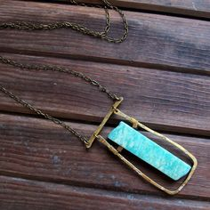 Steps of Blue Necklace with Amazonite