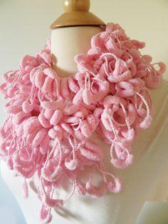 Love this! EtsyXO Sale Pompom Scarf  Super Soft Fashion Scarf  by TrendyKnitz, $8.80