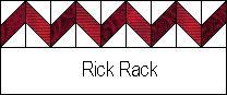 Directions for rick rack, diamond, and herringbone borders
