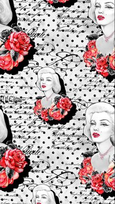 Wallpaper Ideas, Wallpaper Backgrounds, Phone Wallpapers, Cute Wallpapers, Marilyn Monroe Wallpaper, Marilyn Monroe And Audrey Hepburn, Fashion Design Drawings, Designs To Draw, Pinup