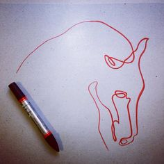 one line horse