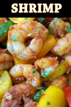 This Easy Shrimp and Vegetable Skillet makes a healthy, quick, and delicious dinner! Packed with wild-caught shrimp, tender zucchini, and sweet bell peppers Low Carb Chicken Recipes, Fish Recipes, Seafood Recipes, Keto Recipes, Cooking Recipes, Healthy Recipes, Seafood Appetizers, Healthy Recipe Videos, Pasta Recipes