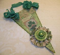 St Patrick's Day Banner  Vintage Style