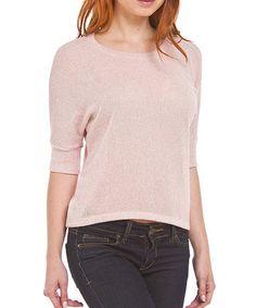 10/12/14 This Pink Crinkle Boatneck Top - $9.99