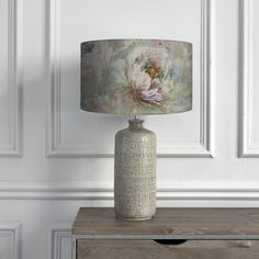 Roseum Coral Shade with Inopia Smoke Table Lamp