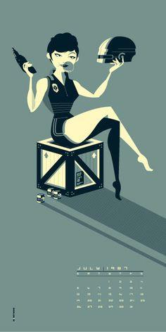"Tom Whalen ""Verhoeven Girls : July '87"" Print"