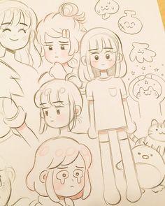 Art Sketchbook Drawing Cartoon – Art World 20 Cartoon Art Styles, Cute Art Styles, Cartoon Ideas, Cartoon Design, Anime Drawings Sketches, Cute Drawings, Pencil Drawings, Arte Sketchbook, Drawing Base