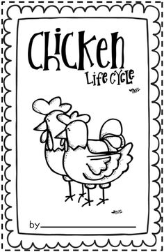 Classroom Freebies Too: Chicken Life Cycle Booklet is a four page booklet that includes transition words, labels, and a picture on each page. Students describe the sequence of events from a hen laying an egg to the chick hatching.  p. 1: First, egg p. 2: Next, roosting p. 3: Then, hatching p. 4: Last, chick