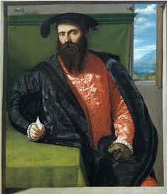 Moretto da Brescia (Italian c. 1498–1554) [Renaissance] Ritratto di gentiluomo ignoto con lettera (Portrait of a Gentleman with a Letter), circa 1538. Oil on canvas, 45.08 × 39.37 in (114.5 × 100 cm). Pinacoteca Civica Tosio-Martinengo, Brescia, Italy.