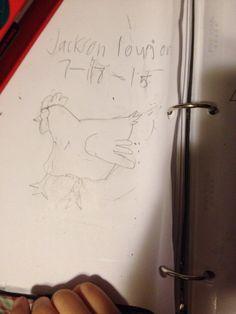 Jackson's chicken Jackson's Art, 8 Year Olds, Chicken, Cubs