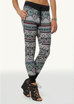 Tribal Jogger Pants | Jogger | rue21. I love their jogger pants they are so comfortable and they are on sale buy one get one for $10 :)