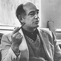 """Harry Bertoia, Italian designer and sculptor, he designed the ultra modern """"wire chair"""" while working for the iconic Knoll company."""