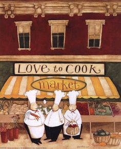 Love to Cook Market by Dan Dipaolo art print