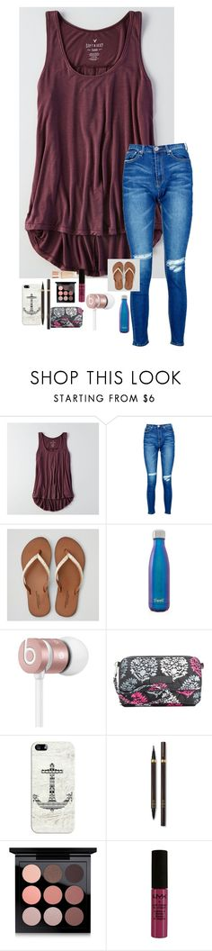 """""""Tied for third in state 🏀"""" by kristie-thompson78 ❤ liked on Polyvore featuring American Eagle Outfitters, Boohoo, S'well, Beats by Dr. Dre, Vera Bradley, Casetify, Tom Ford, MAC Cosmetics, NYX and Charlotte Tilbury"""