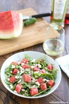Spicy Watermelon Salad for #SundaySupper with #GalloFamily