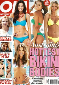 Nookie Beach 'Flower Bomb Triangle Bikini' in OK! Magazine Nov 12