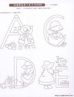 """""""Sunbonnet Sue Applique 2013"""". Livro japonês em patchwork. Discussão sobre LiveInternet - Serviço diário russo on-line"""