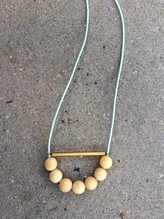 DIY Tube and Bead Necklace