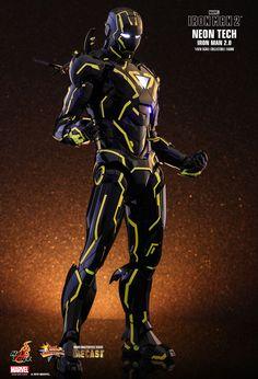 Hot Toys : Iron Man 2 - Neon Tech Iron Man 2.0 1/6th scale Collectible Figure Diecast Marvel Art, Marvel Dc Comics, Marvel Heroes, Anime Comics, Disney Marvel, The Punisher, Iron Man Wallpaper, Marvel Wallpaper, Galaxy Wallpaper