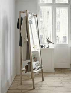 The valet stand gets a hip style upgrade, Home Accessories, Stine H Andersen for Skagerak oak Push mirror,