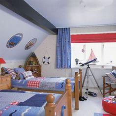 Estilo marinero en decoración de dormitorios infantiles