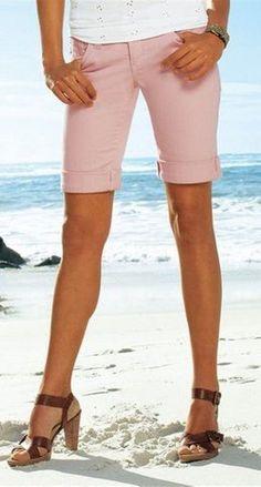 Jeans / Jeansshorts / Kurze Jeans - Bermudas Gr.34 ROSA  NEU