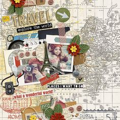 Pack and Go Bundle by Studio Basic http://www.sweetshoppedesigns.com/sw...672&page=4  So Selfie by Little Green Frog Designs Photo by Rock n...