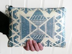 Oversized Clutch/Purse/Bag/Cosmetics/Travel by jigglemawiggle, £16.00
