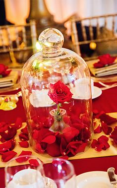 Decor: Belle's Enchanted Christmas Inspired ReceptionEver After Blog | Disney Fairy Tale Weddings and Honeymoon