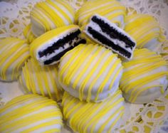 Yellow  Chocolate Covered Oreos Cookies You Are My Sunshine Baby Shower Wedding Favors Yellow Party Favors
