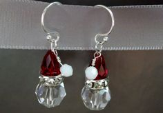 Aren't these the cutest earrings!!!!  Swarovsky crystal Santa earrings by katschristmasshop on Etsy, $18.00