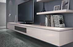 Introducing the luxuriously elegant Cleanline CLF36.123 Entertainment Unit which features a slimline design