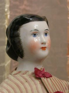 "Superb All Original ""Lady Agnes"" Antique China Doll From Museum from kathylibratysantiques on Ruby Lane Victorian Ladies, Victorian Dolls, Antique Dolls, Vintage Dolls, Valley Of The Dolls, Half Dolls, China Dolls, Doll Quilt, Bisque Doll"