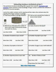 How to estimate numbers worksheet-2