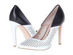 French Connection Black & White Heels http://www.saltstyleblog.com