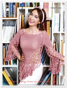 Fancy and Pretty Crochet Top Pattern. Diagram ONLY! More Patterns Like This!