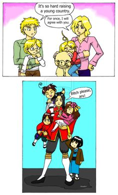 Hetalia - Raising Young Countries by Maru-sha.deviantart.com on @deviantART