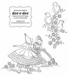 Like the birds  doe-c-doe: thursday = embroidery