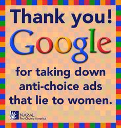These ads have now been taken down for violating Google's advertising policy that ads must be truthful and accurate. Description from feminist.org. I searched for this on bing.com/images