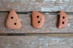 Irish Sea tumbled terracotta buttons by MajackalCreations on Etsy Irish Sea, Terracotta, Sea Glass, Pottery, Buttons, Etsy, Terra Cotta, Ceramics, Pottery Pots