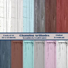 DISTRESSED WOOD SCRAPBOOK Craft Paper Pack. by ChangingArtitudes