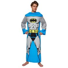 Batman Lounger With Sleeves in DVDs, Films & TV, Film Memorabilia, Clothing Batman Bed, Batman Suit, Superman, Batman Gifts, Dc Comics Heroes, Game Costumes, Mens Sleeve, Gotham City, Polar Fleece