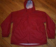 LL Bean hooded zip nylon windbreaker Jacket Men's Large walking hiking cycling #LLBean #Windbreaker