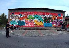 Hello my name is.. @sdpcrew @dente_del_giudizio @pupobibbito @lo_sbieco @lordhang @matzluca #rise #psikopatik #shaze #moku #reni #over #elfo #rhiot  #graffitiart #instagraffiti #graffitiigers #rsa_streetview #streetart #streetartandgraffiti @graffitishop Street Art Utopia, Reggio Emilia, Graffiti Art, Instagram Posts, Elf