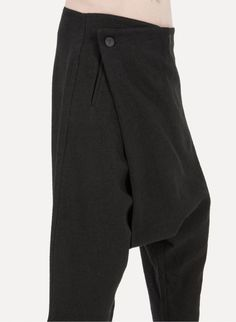 Song For The Mute C004.BLK Foldover Cropped Pant