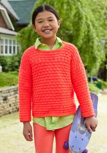 cute but wrong color !!! maybe a royal blue would be pretty -- Caron International | Free Project | Stylin' Sweater #knit